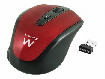 Ewent Wireless Optical Mouse (Rood)